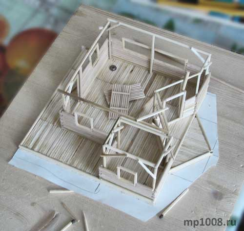 Model house made of paper